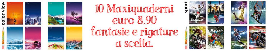 Offerta 10 MaxiQuaderni € 8,90
